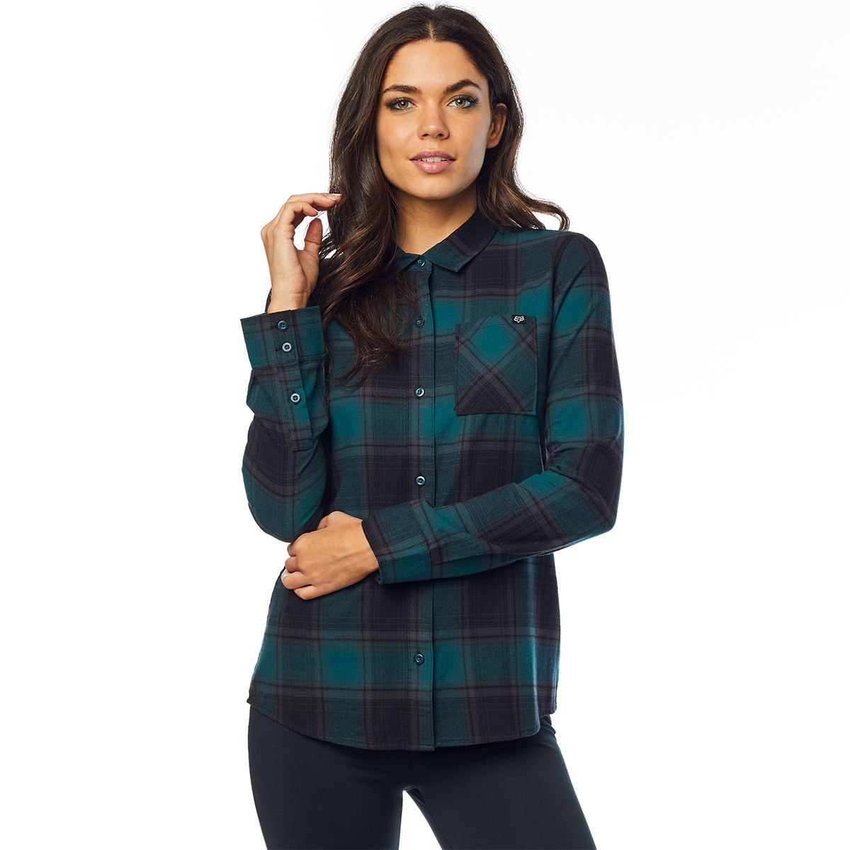 KICK IT LS FLANNEL Damen Bluse