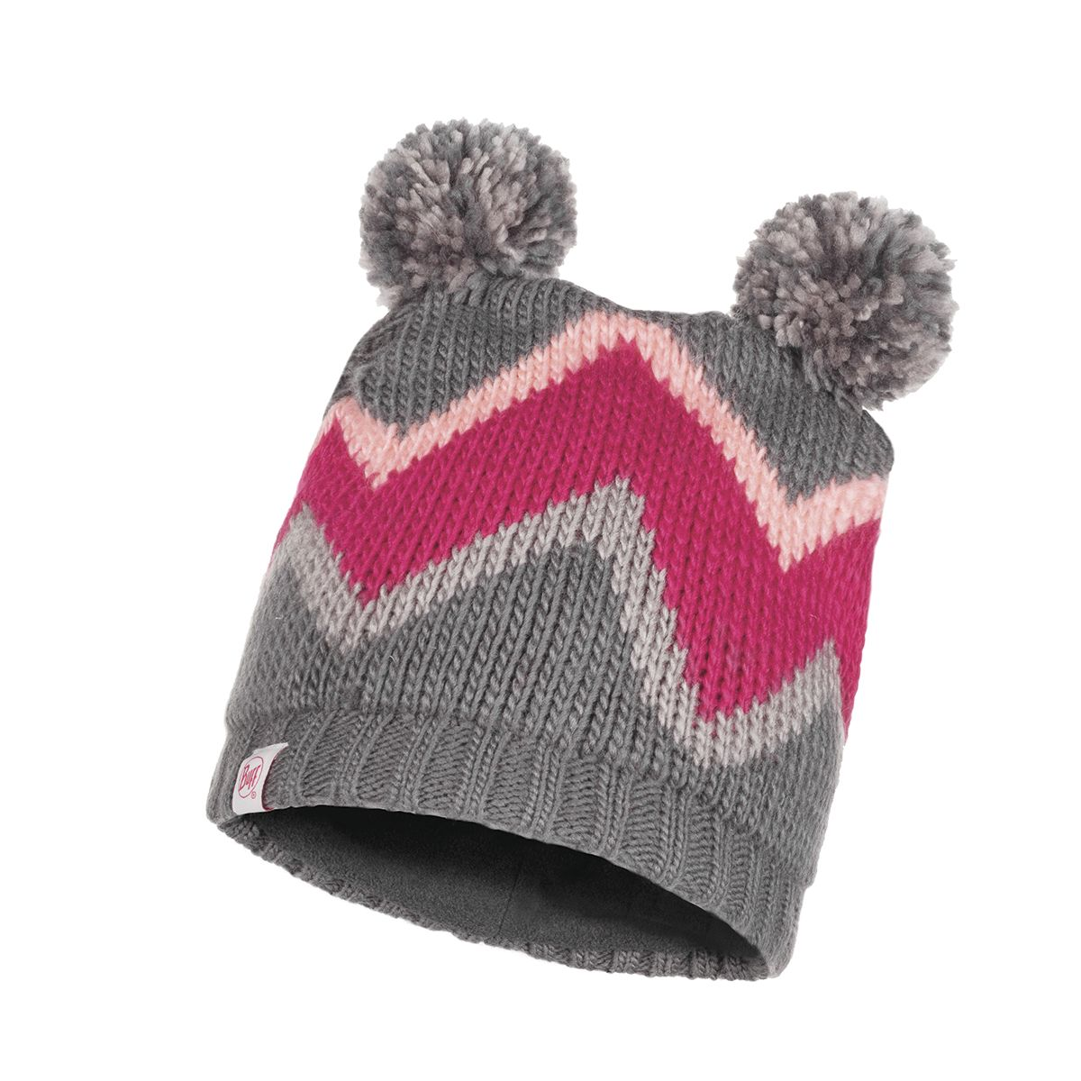 Arild Knitted & Polar Fleece Hat Kinder Mütze