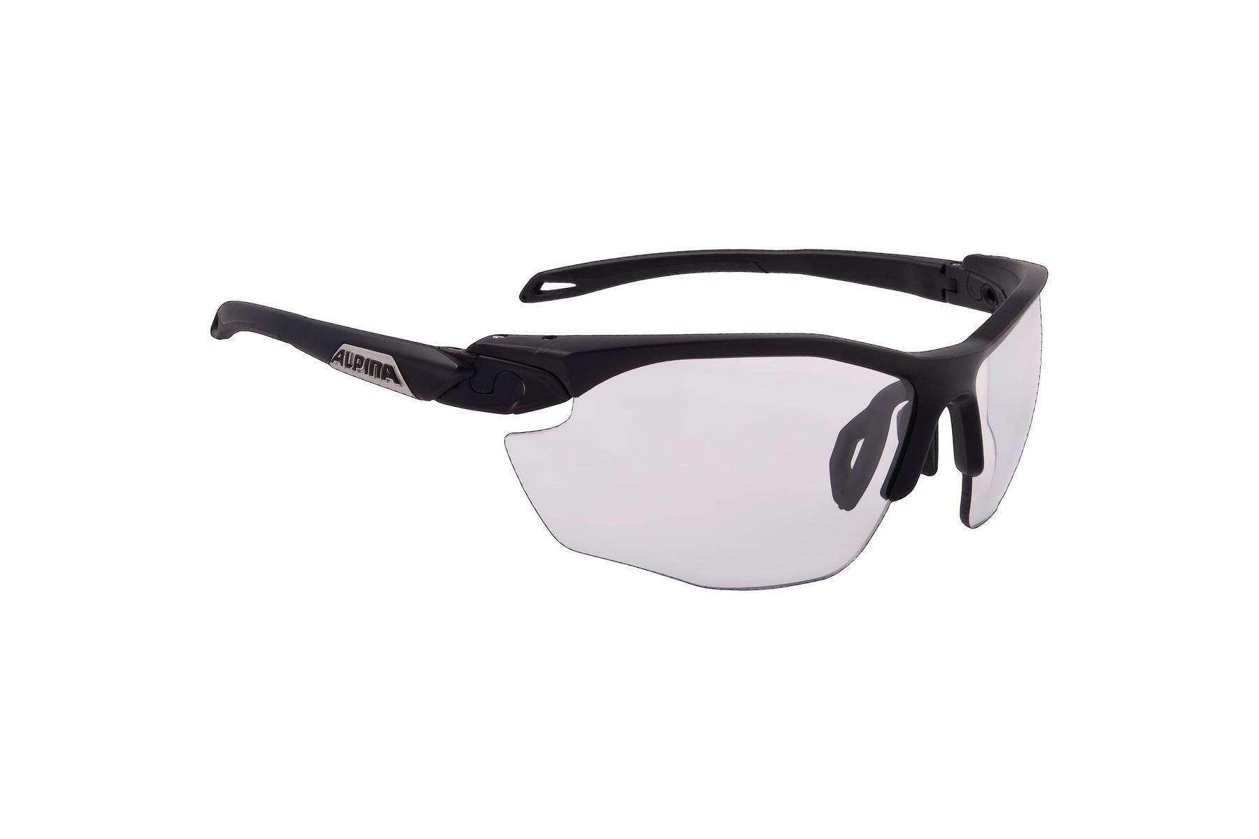 Alpina Sonnenbrille Twist Five HR S VL+ Varioflex selbsttönend white/ black Axl77U