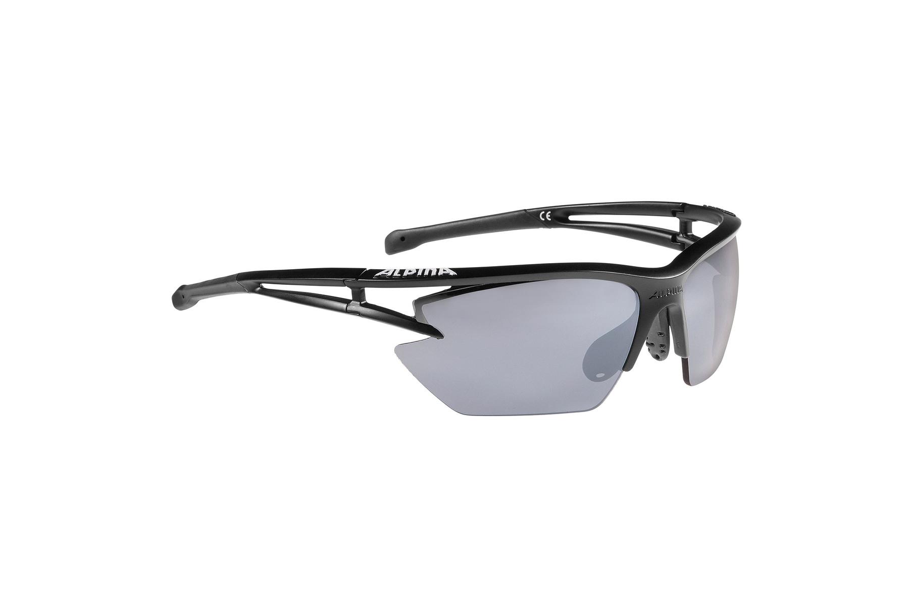 Alpina Sportbrille EYE-5 HR S CM+ - black matt-blue 7MF7Cz8K8