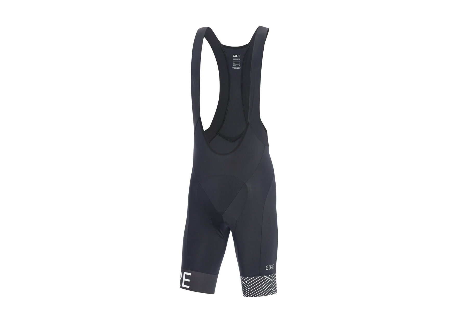 GORE WEAR C5 Optiline Bib Shorts Men black//white  2019 Träger-Hose schwarz