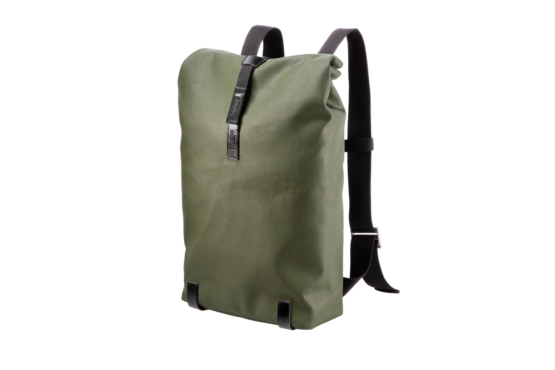 Image of Brooks PICKWICK Canvas Backpack Rucksack forest