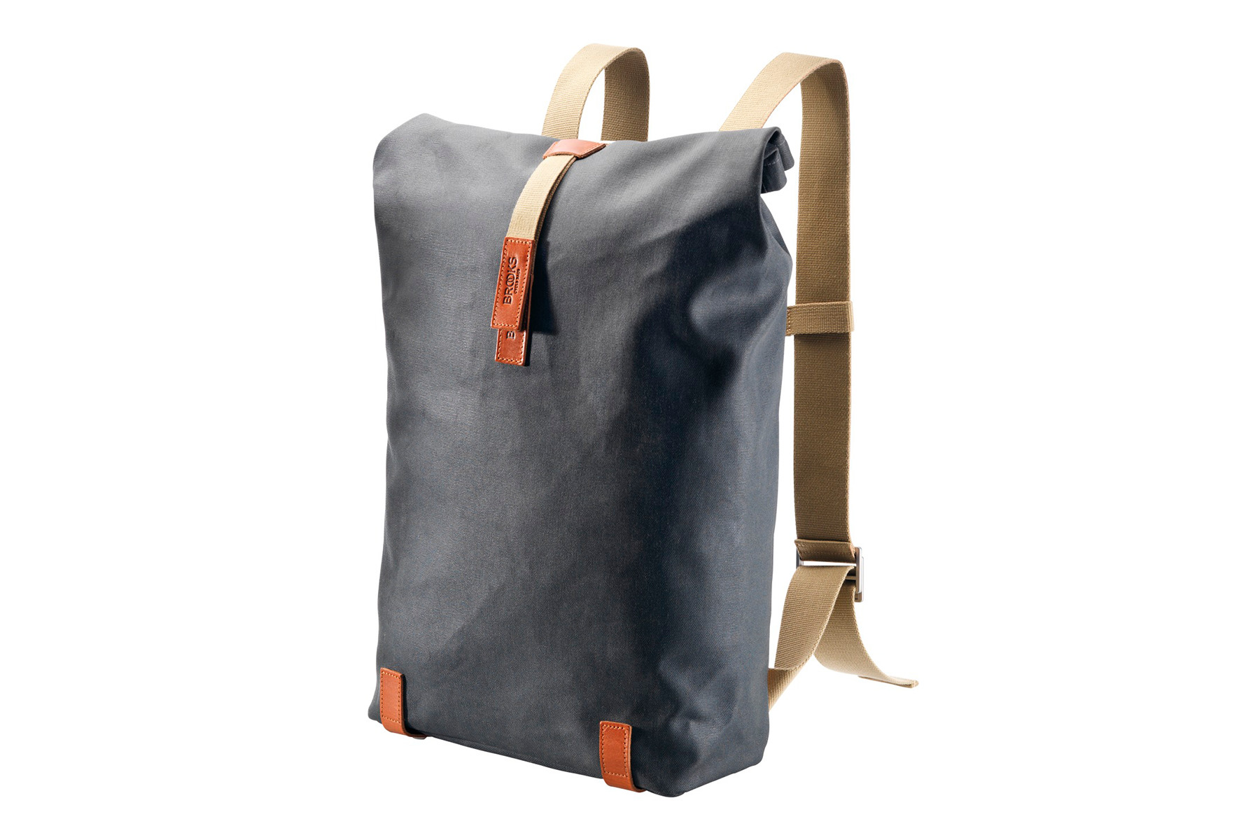Image of Brooks Pickwick Canvas Backpack 26L - Tages Rucksack - grey / honey