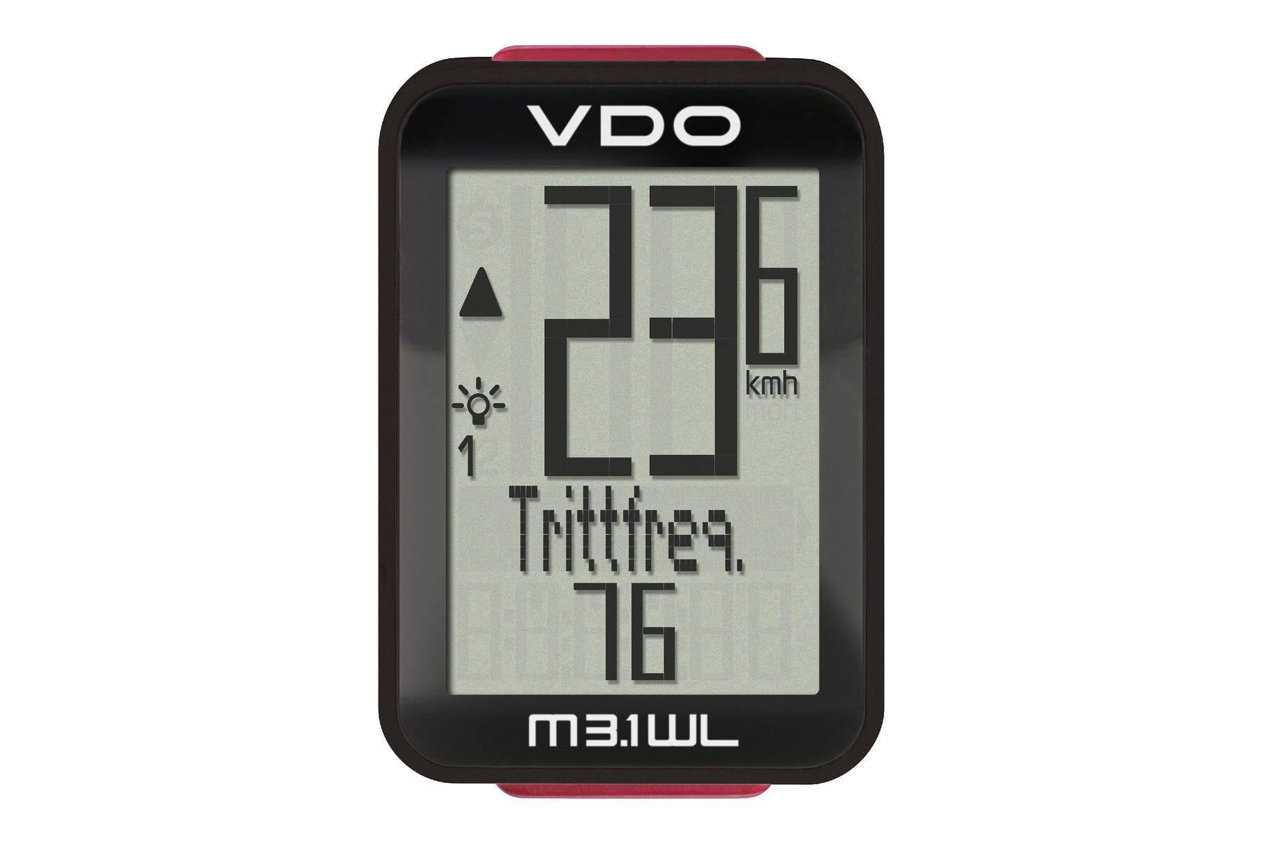 VDO M3.1 WL Fahrrad-Computer -kabellos-